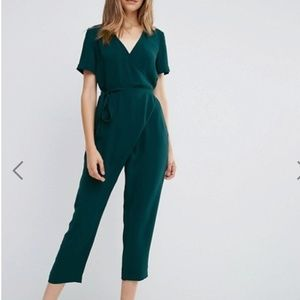 ASOS cropped leg wrap jumpsuit (with POCKETS!)